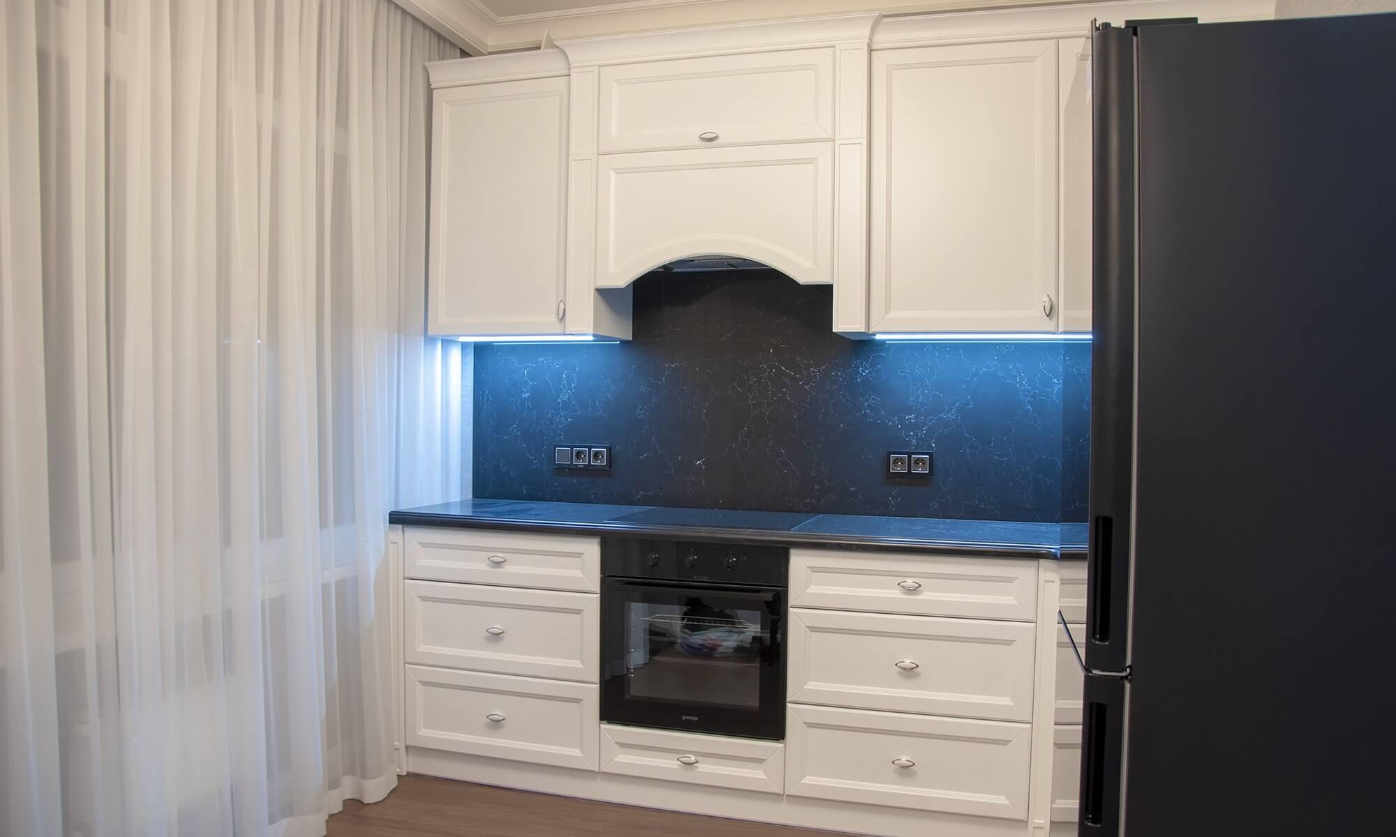 Кухня после ремонта однокомнатной квартиры 32-я Жемчужина Одесса