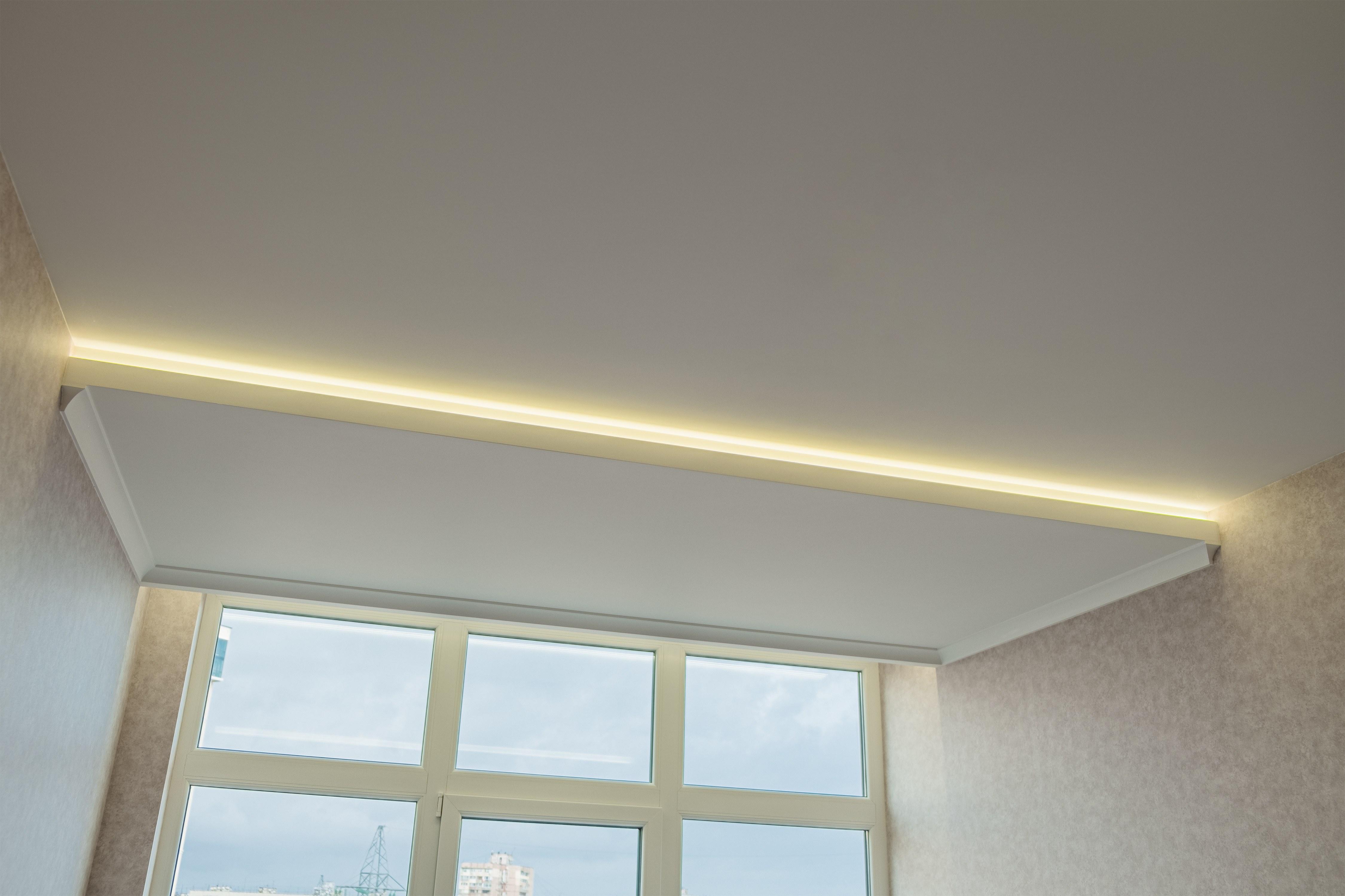 Гипсокартонный потолок после ремонта комнаты 29-я Жемчужина