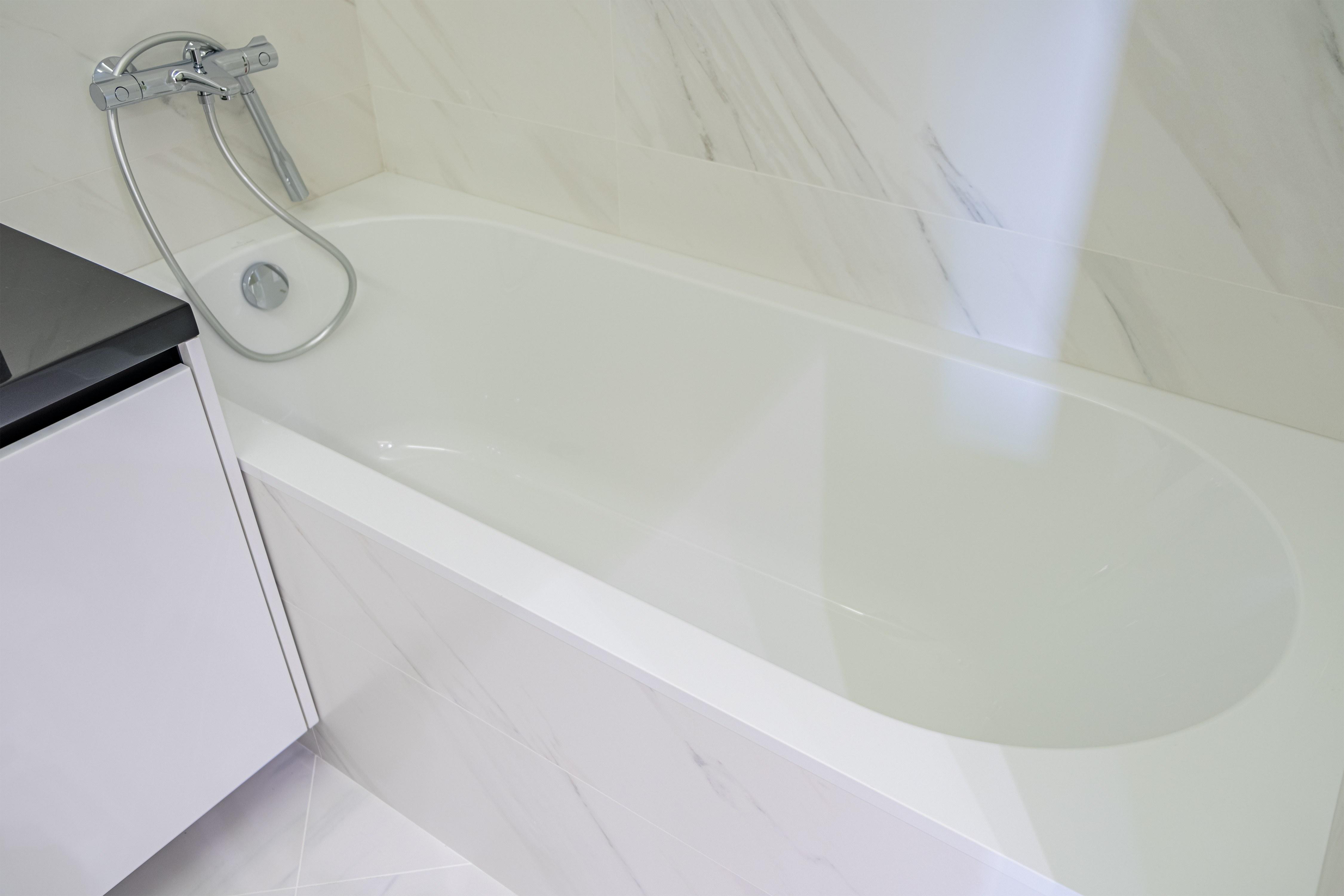 Ванная после ремонта квартиры в 29 Жемчужине