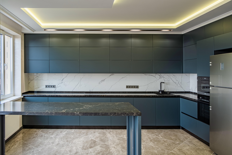 Дизайнерская кухня студия после ремонта квартир в 29 Жемчужине Одесса
