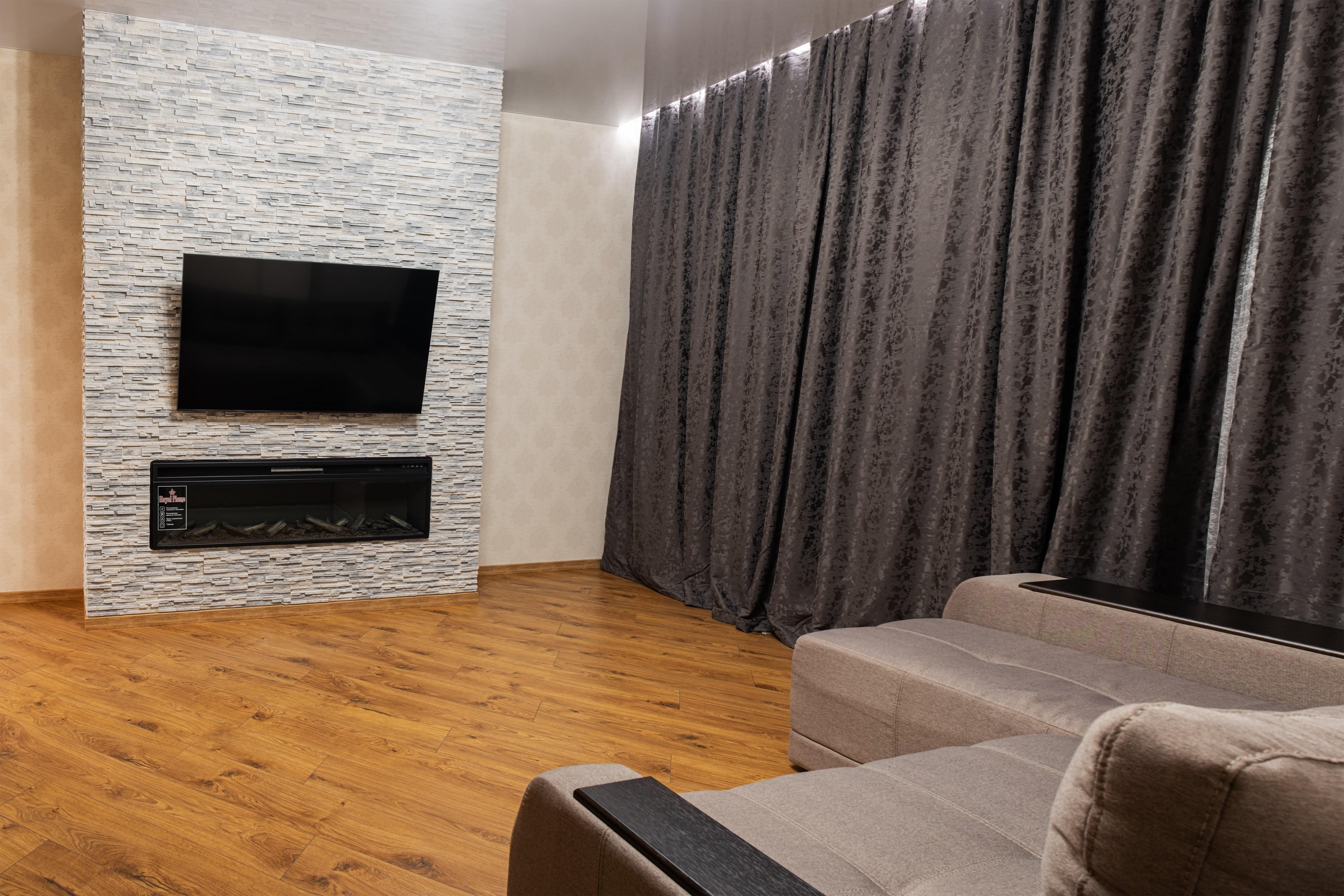 Гостиная комната после ремонта квартиры в Одессе