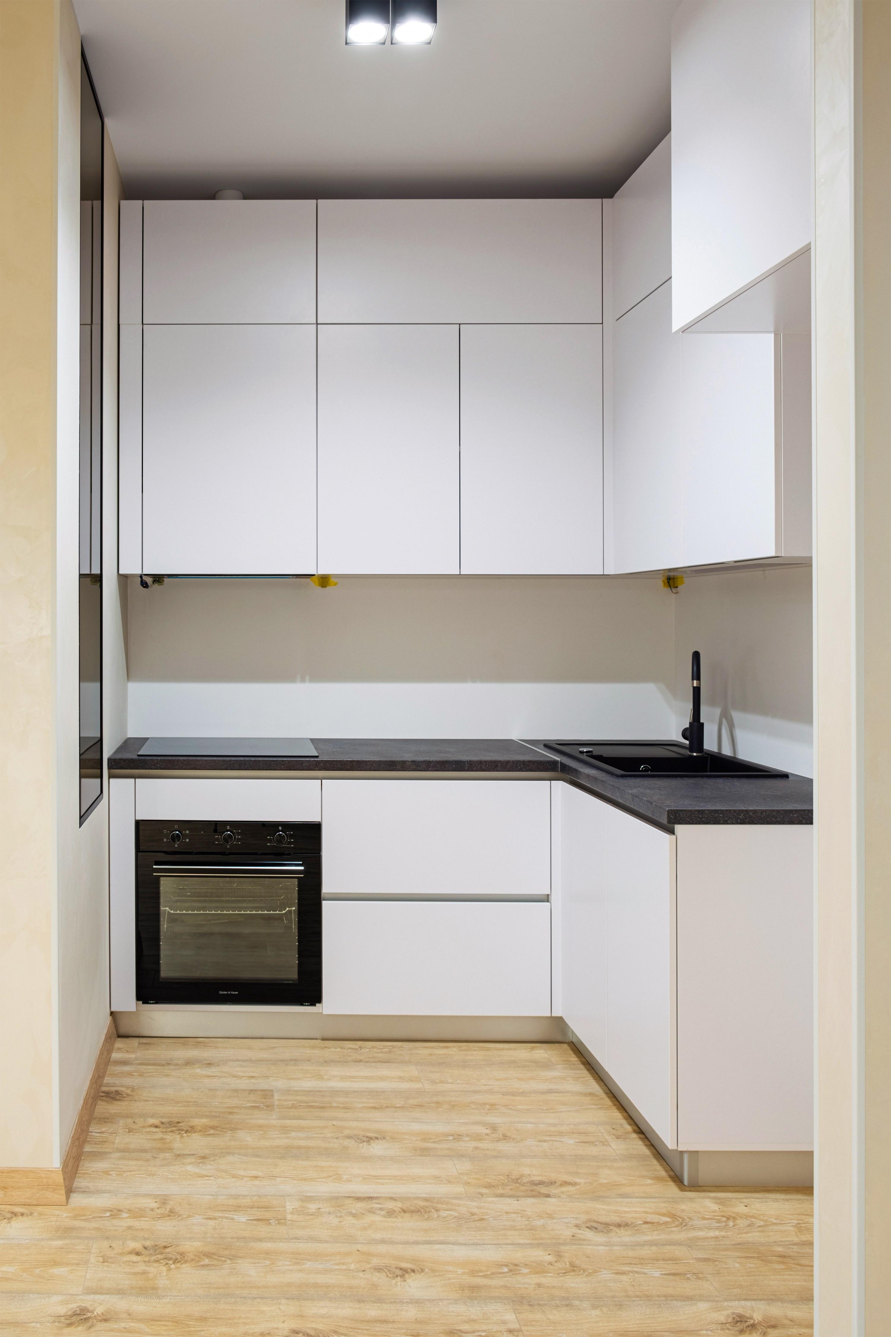 Кухня после ремонта квартиры в ЖК «Французский бульвар» Одесса