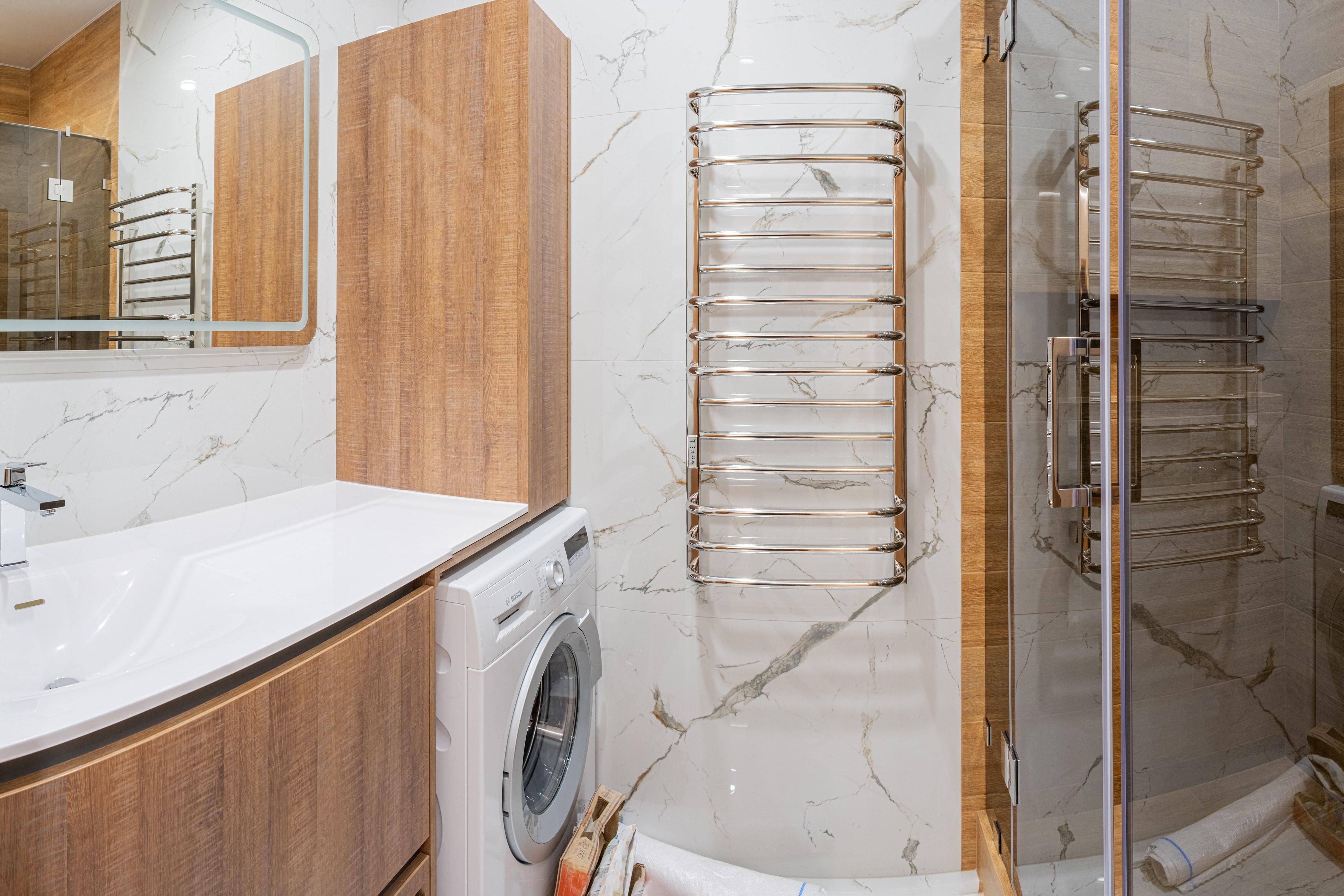 Ванная комната после ремонта квартиры в Одессе