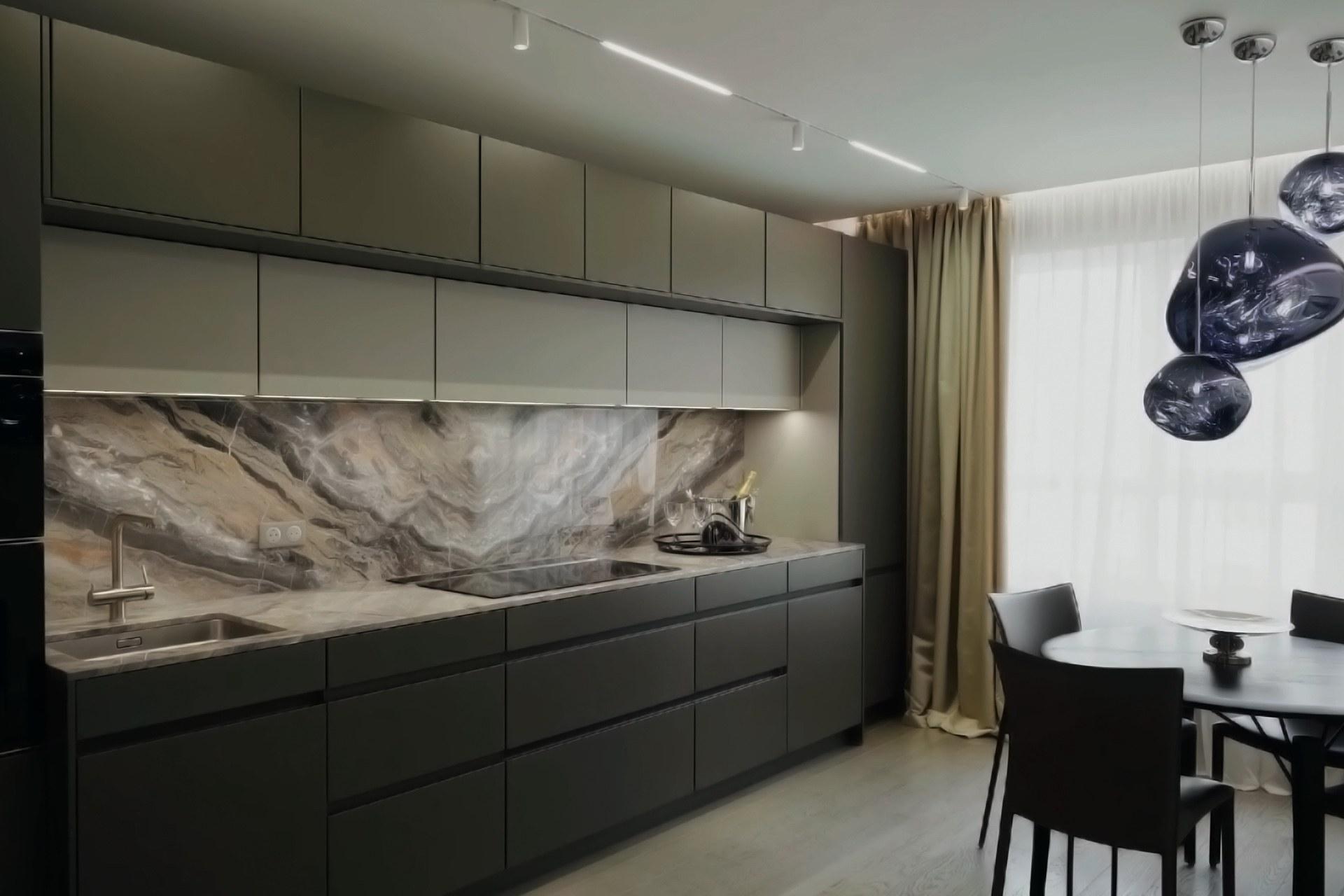 Кухня студия - тренд 2021
