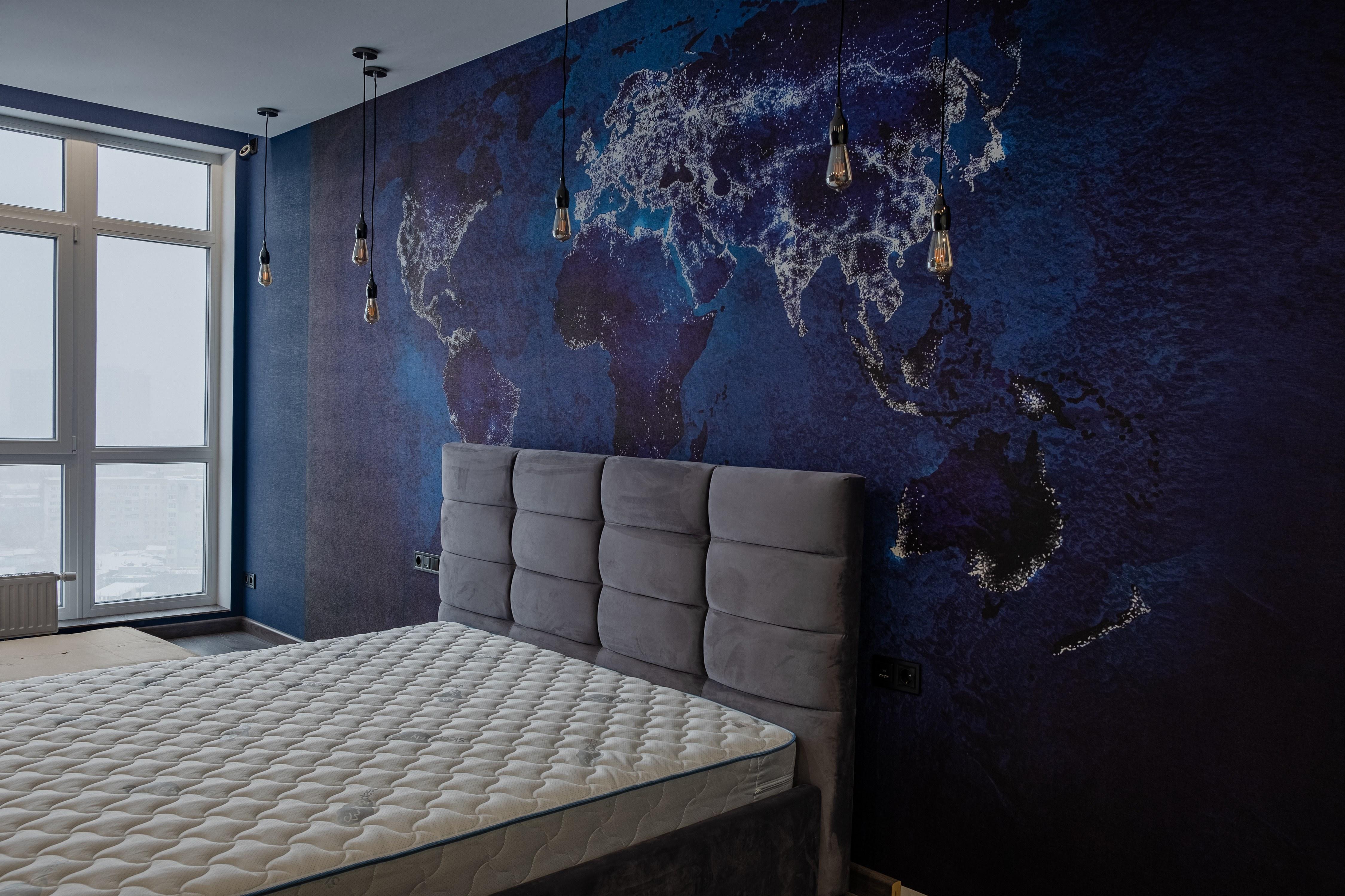 Спальня после ремонта квартиры в Одессе 4 сезона